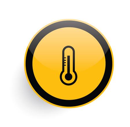 mercury: Mercury icon design on yellow button background,clean vector Illustration