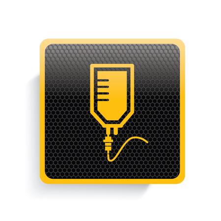 saline: Saline icon design,yellow version,clean vector