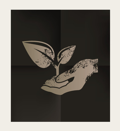 arbre: Growth design on black background,vector