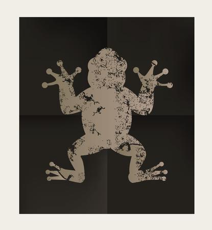 creep: Frog design on black background,vector