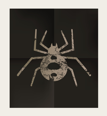 latrodectus: Spider design on black background,vector