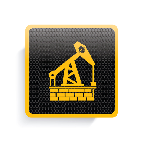 steel mill: Oil industry icon design,yellow version,clean vector Illustration