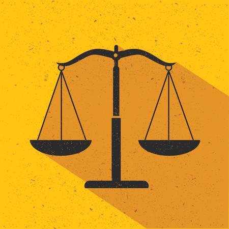 justice scale: Justice scale flat design,vector Illustration
