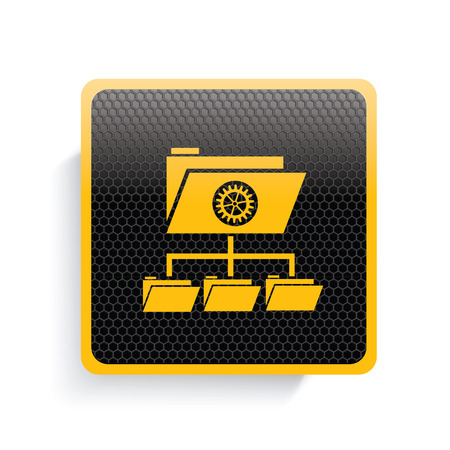 file share: Folder,file share icon design,yellow version,clean vector