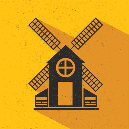 smokestack: Industry flat design,yellow version,vector