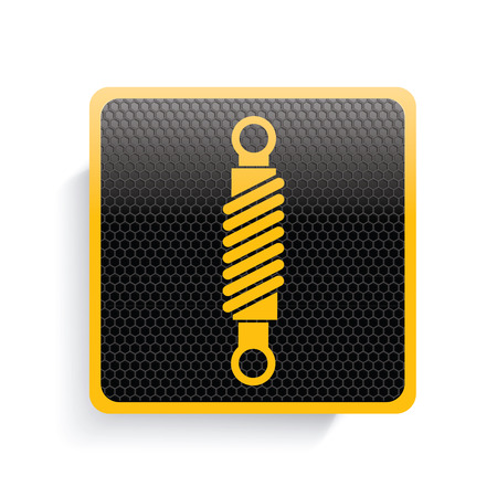 conrod: Engine icon design,yellow version,clean vector Illustration