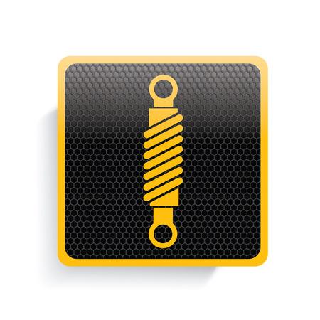 conrod: Engine icon design,yellow version,clean vector Illustration