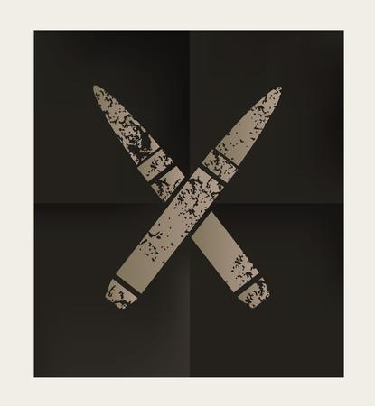 weaponry: Bullet design on black background,vector Illustration