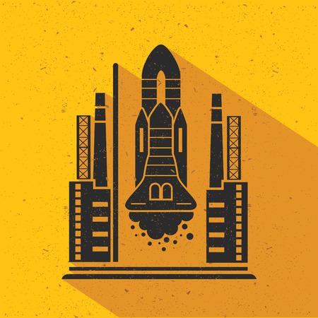 brandweer cartoon: Raket plat ontwerp, vector