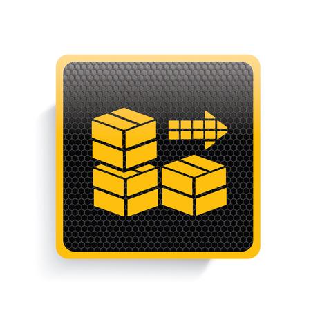 stockpile: Cargo icon design,yellow version,clean vector