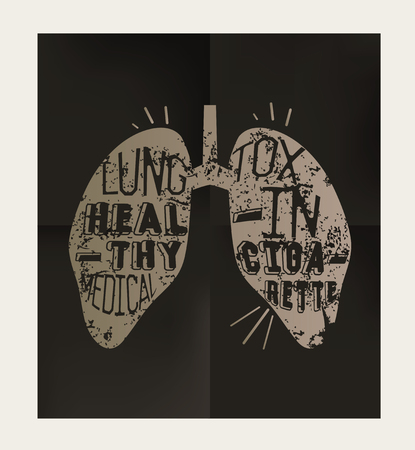 respire: Lung design on black background,vector Illustration