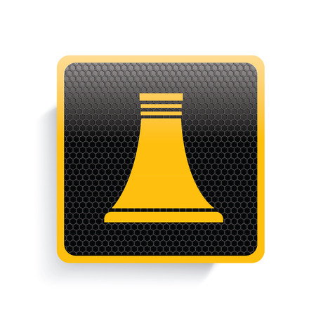 nuclear icon: Nuclear icon design,yellow version,clean vector Illustration