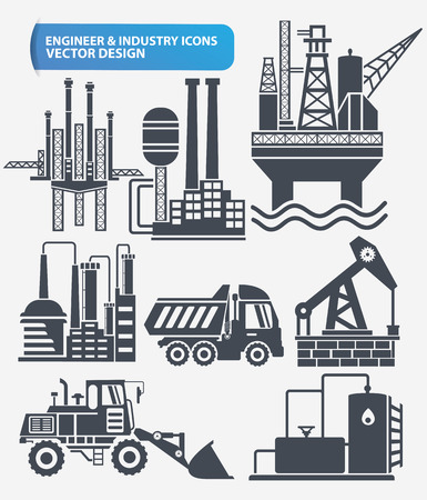 skid steer: Industry,engineer and construction icon set design,clean vector