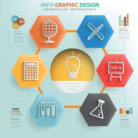 cams: Idea and Education info graphic design