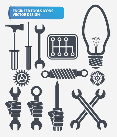 nipper: Repair,engineer and construction icon set design,clean vector