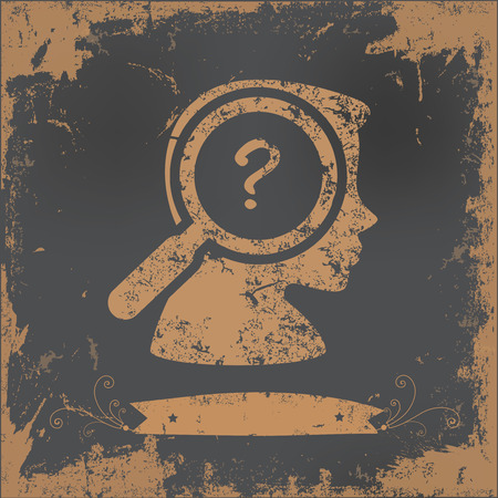 suspicious: Question design on old paper background,vector