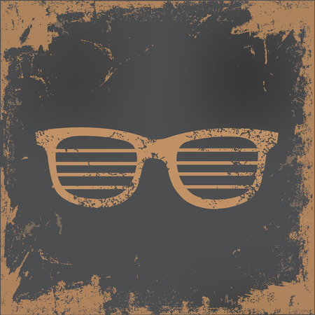 eye wear: Glasses design on old paper background,vector Illustration