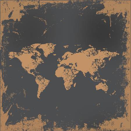 old world: Map design on old paper background,vector