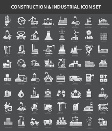 Bau und Industrie-Symbol gesetzt, saubere Vektor