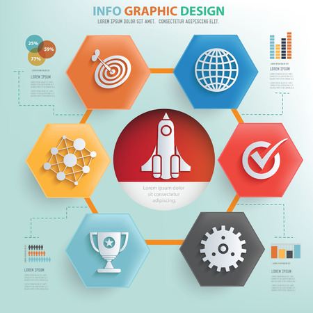Start up and business concept info graphic design,vector
