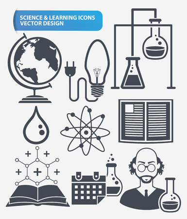 innovation: Science and innovation icon set design,clean vector Illustration