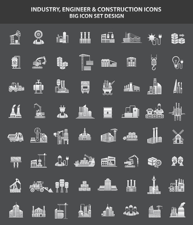 construction icon: Industry,Engineer  Construction icon set,clean vector