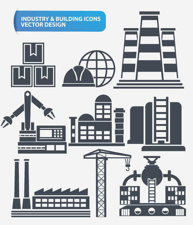 fire and water: Industry,engineer and construction icon set design,clean vector