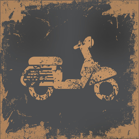 paper background: Motorcycle design on old paper background,vector Vettoriali