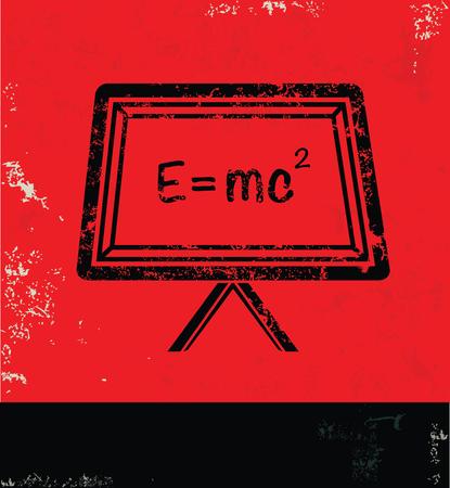 caffeine molecule: Science design on red background, grunge vector