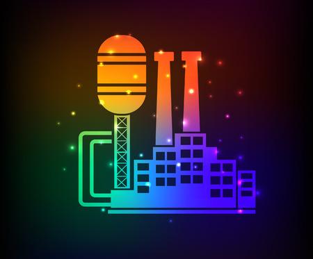 smokestack: Factory,industry design,rainbow concept,clean vector