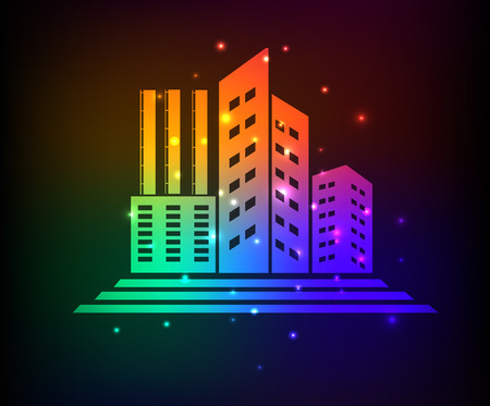 intake: Industry design,rainbow concept,clean vector Illustration