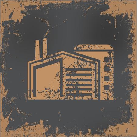 old paper background: Factory design on old paper background,vector