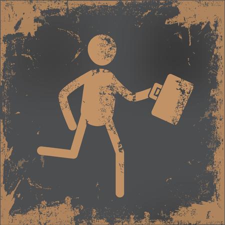 gente exitosa: El diseño de los recursos humanos en el fondo de papel viejo, vector