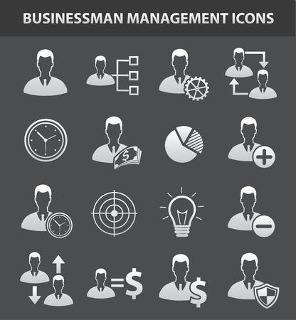 business money: Business management icon set,clean vector Illustration