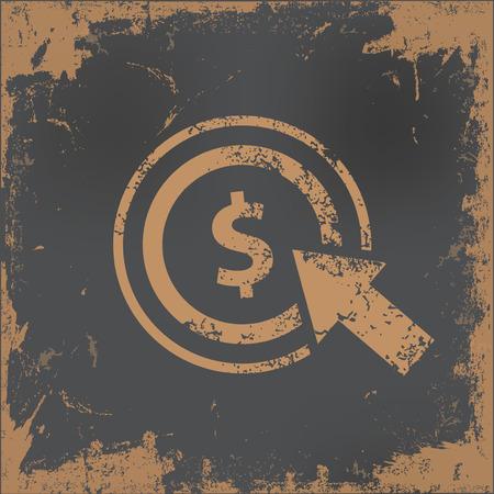 old paper background: Pay per click design on old paper background,vector Illustration