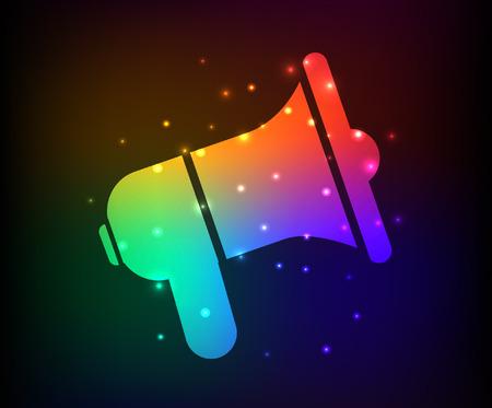 diffusion: Megaphone design,rainbow concept,clean vector Illustration