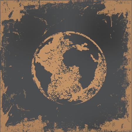 old paper background: Global design on old paper background,vector