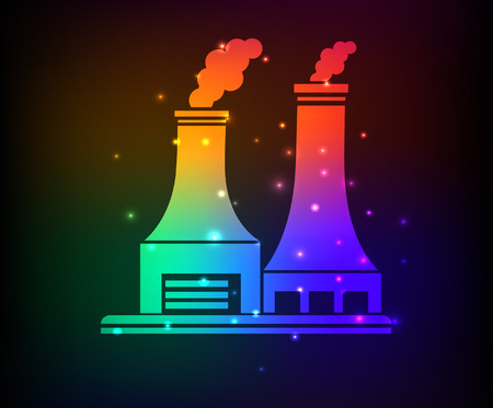 vector nuclear: Nuclear,industry design,rainbow concept,clean vector Illustration
