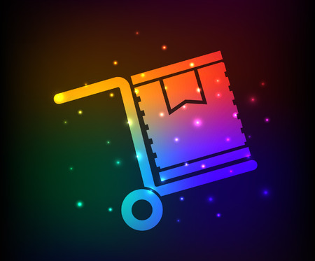 box design: Cargo,box design,rainbow concept,clean vector