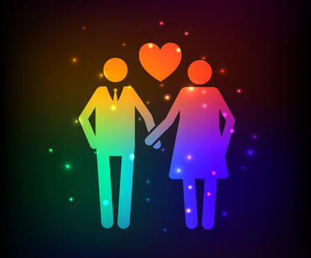 rout: Love,Family design,rainbow concept design,clean vector