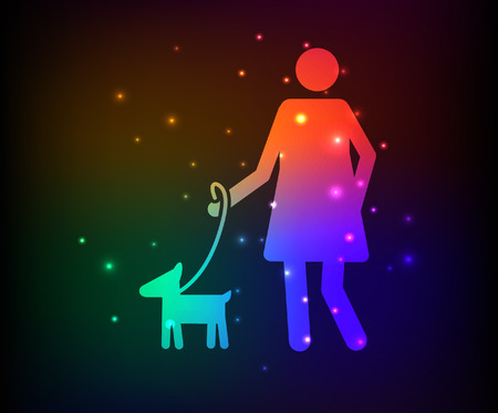 animal mating: Love pet,Family design,rainbow concept design,clean vector