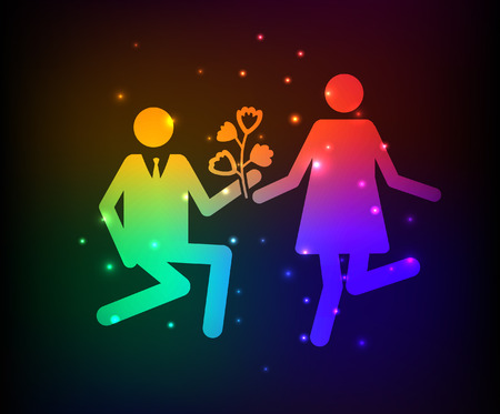gent: Love,Family design,rainbow concept design,clean vector