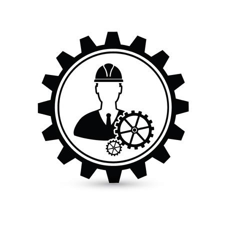 Engineer design,gear concept on white background,clean vector Illusztráció