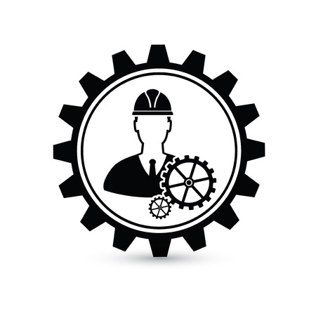 Engineer design,gear concept on white background,clean vector Vectores
