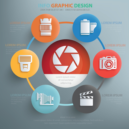 neutral density filter: Photography concept design,info graphic,vector Illustration
