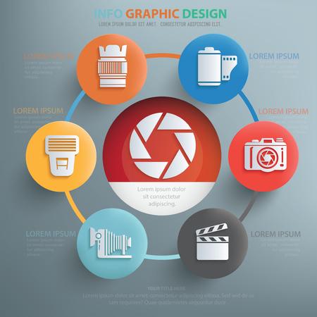 polarizing: Photography concept design,info graphic,vector Illustration