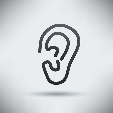 Ear design,clean vector