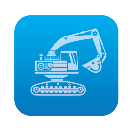 crisper: Truck,industry icon on blue background,clean vector
