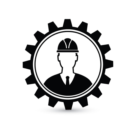 Engineer design,gear concept on white background,clean vector Vettoriali