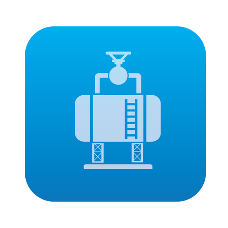 smokestack: Factory,industry icon on blue background,clean vector
